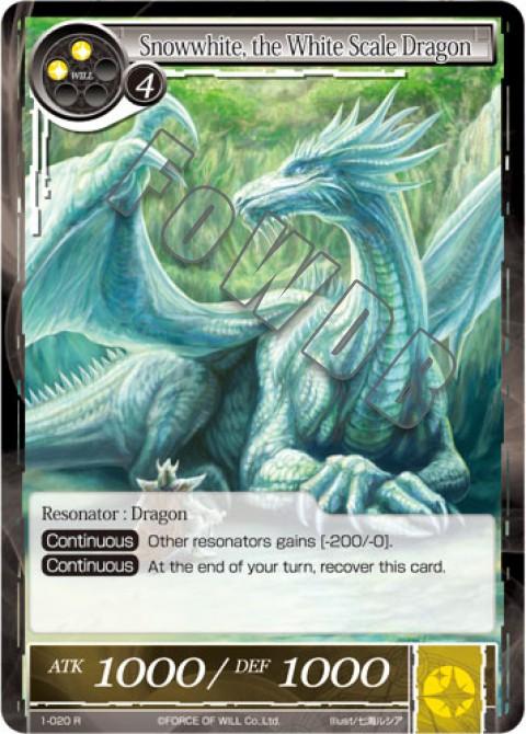 Snowwhite, the White Scale Dragon