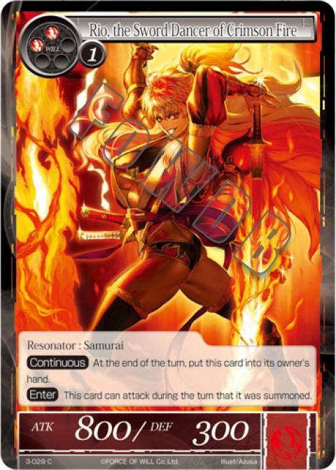 Rio, the Sword Dancer of Crimson Fire