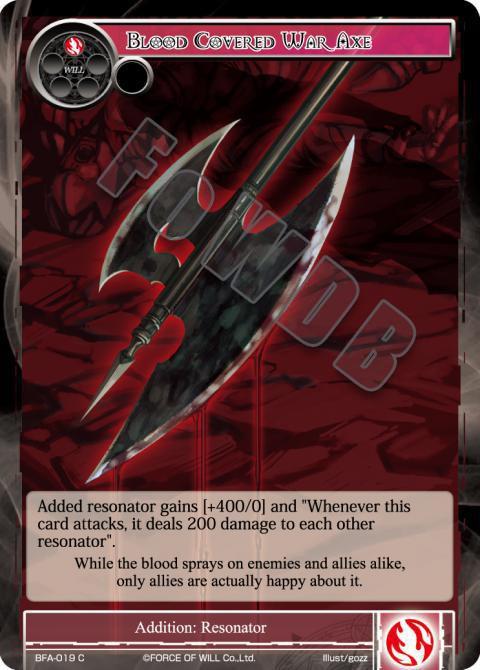 Blood Covered War Axe