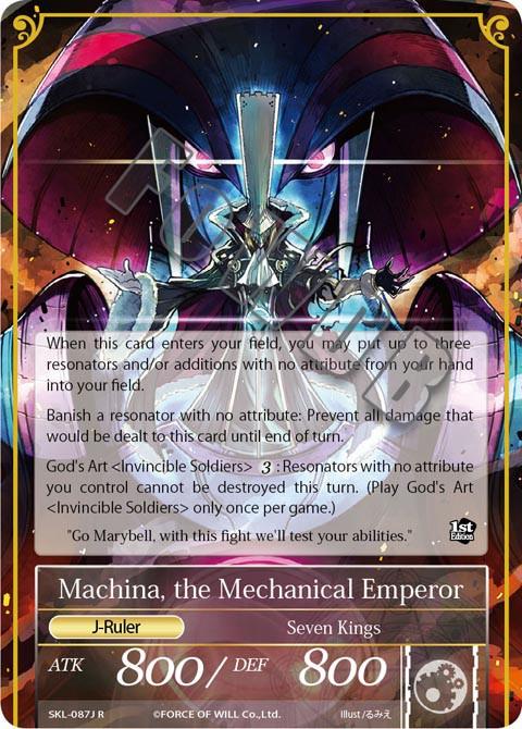 Machina, the Mechanical Emperor