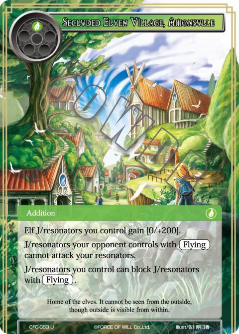 Secluded Elven Village, Amonsulle