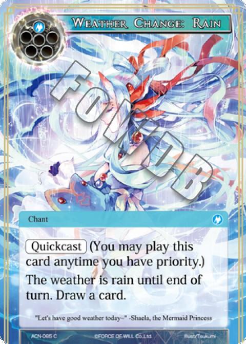 Weather Change: Rain
