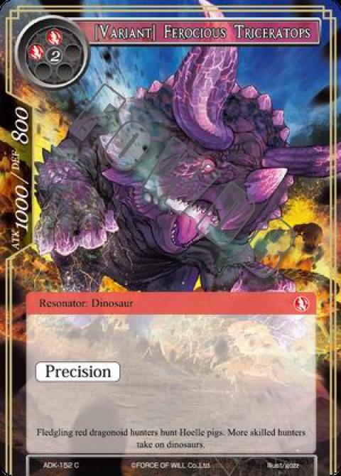 [Variant] Ferocious Triceratops
