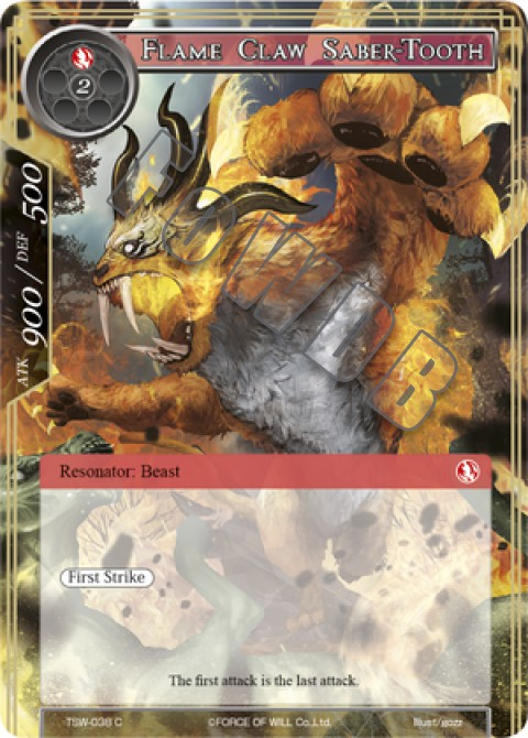 Flame Claw Saber-Tooth