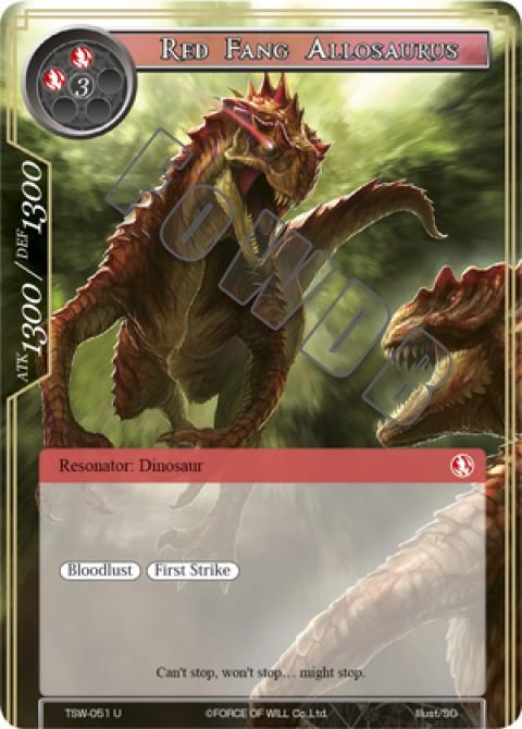 Red Fang Allosaurus