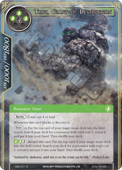 Trou, Giant of Destruction