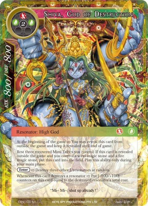 Shiva, God of Destruction