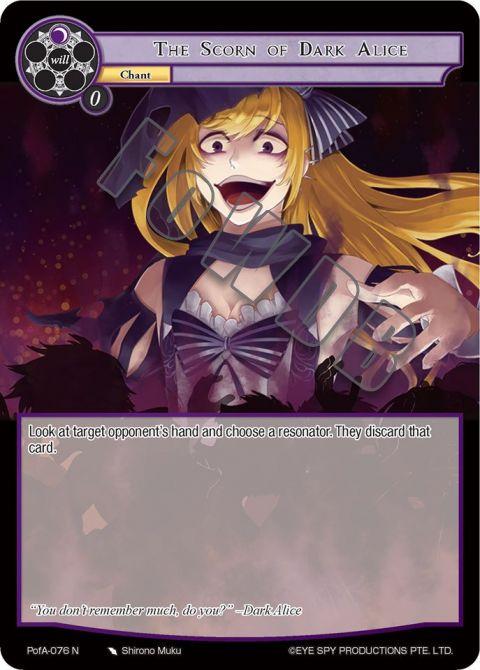 The Scorn of Dark Alice