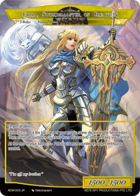 Faria, Swordsmaster of Creation