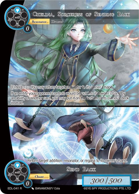Chelina, Sorceress of Sending Back