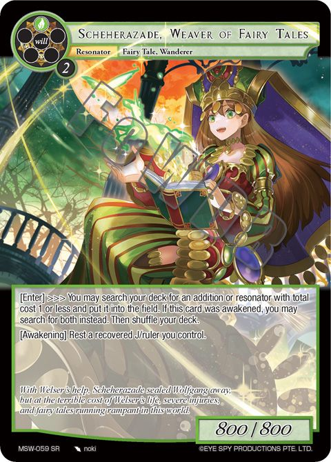 Scheherazade, Waver of Fairy Tales
