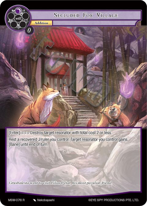 Secluded Fox Village