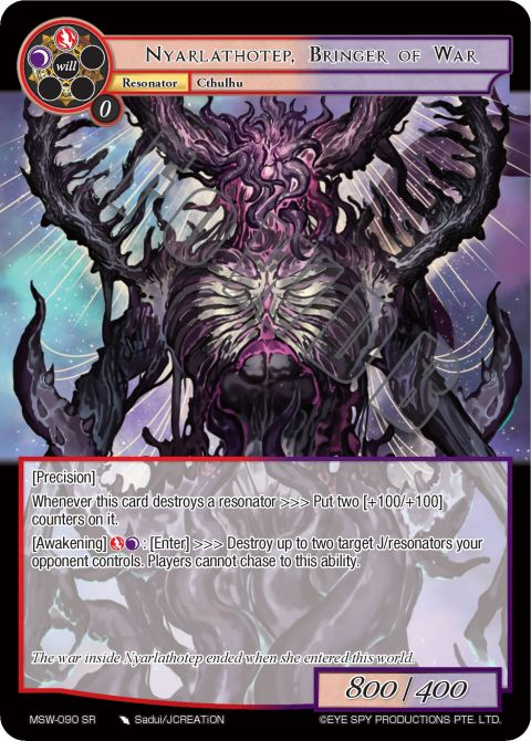 Nyarlathotep, Bringer of War